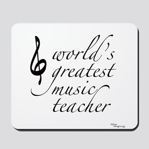 world's greatest music teache Mousepad