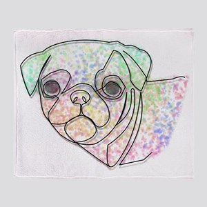 Wire Pug Throw Blanket