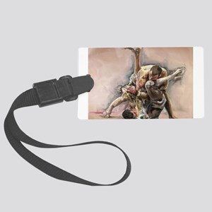 ufc oil Large Luggage Tag