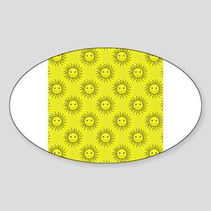 Smiling Sun Pattern Sticker
