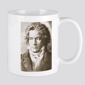 Beethoven In Sepia Mugs