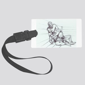 Fighting Pencil Large Luggage Tag