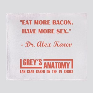 EAT MORE BACON Throw Blanket