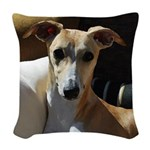 Whippet Woven Throw Pillow