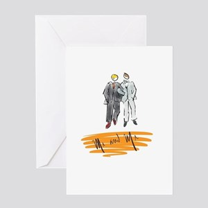 Mr and Mr Orange Greeting Cards