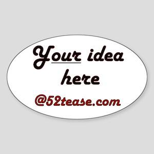 Personalized Customized Oval Sticker