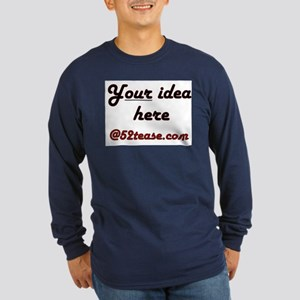 Personalized Customized Long Sleeve Dark T-Shirt