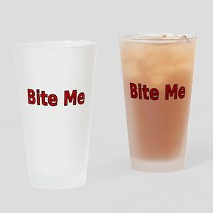 Bite Me Drinking Glass