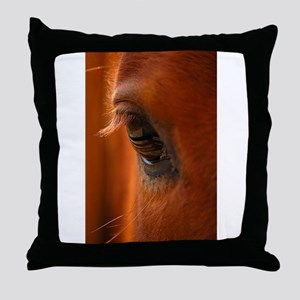 Eye of the Horse Throw Pillow