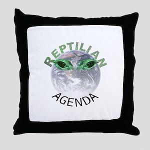 Reptilian Agenda Throw Pillow