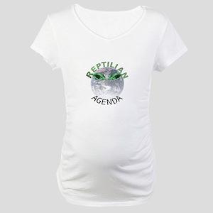 Reptilian Agenda Maternity T-Shirt