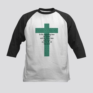 John 1:1 Cross green Baseball Jersey