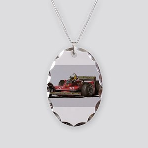 f1 Necklace Oval Charm