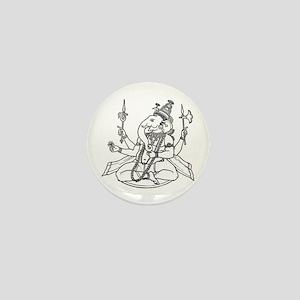 Ganesha - Hindu Diety Mini Button