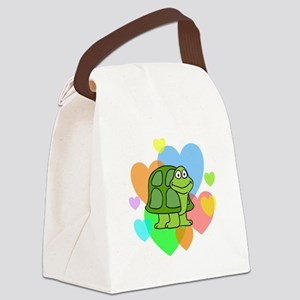 Turtle Hearts Canvas Lunch Bag