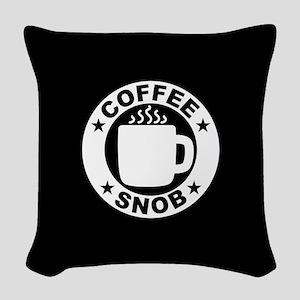 Coffee Snob Woven Throw Pillow
