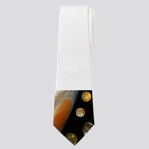 Jupiter With 4 Moons Neck Tie