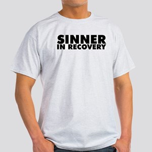 Sinner in Recovery Bold Light T-Shirt