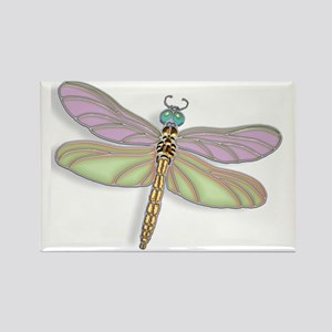 Lavender and Green Dragonfly Magnets