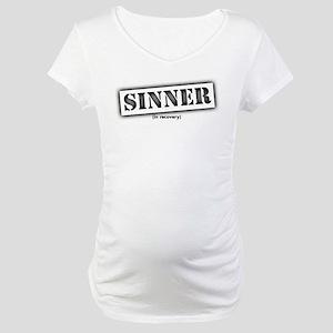 Sinner black stencil Maternity T-Shirt