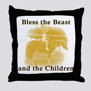 Bless the beast and children Throw Pillow