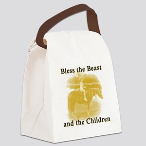 Bless the beast and children Canvas Lunch Bag