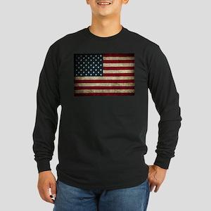 USA Flag - Grunge Long Sleeve T-Shirt