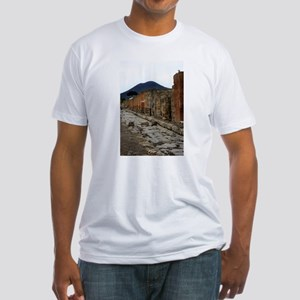 Mt. Vesuvius & Pompeii Fitted T-Shirt