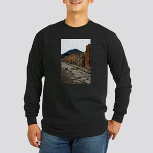 Mt. Vesuvius & Pompeii Long Sleeve Dark T-Shirt