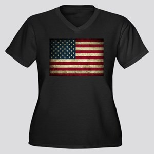 USA Flag - Grunge Plus Size T-Shirt
