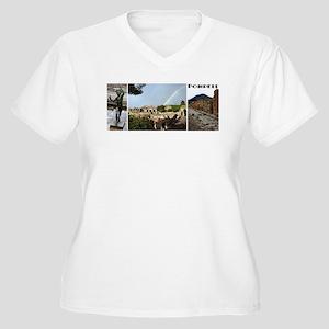 Pompeii, 3 photos Women's Plus Size V-Neck T-Shirt