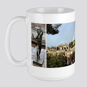 Pompeii, 3 photos Large Mug