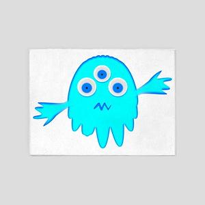 Radioactive Little Monster 5'x7'Area Rug