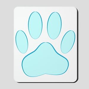 Blue Dog Pawprint Mousepad