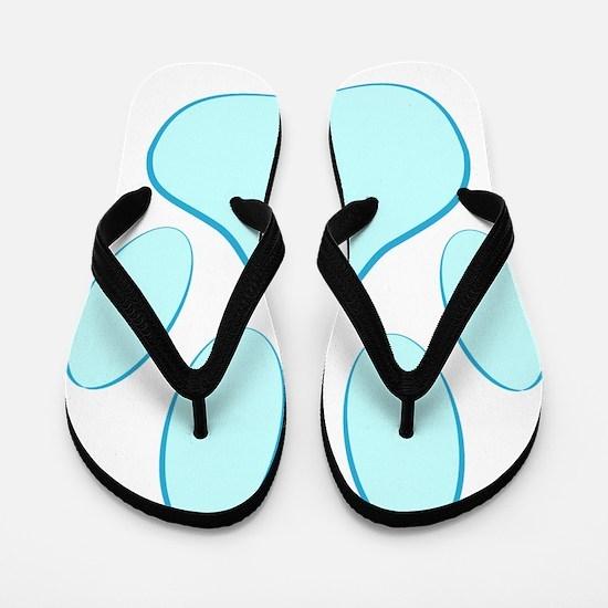 Blue Dog Pawprint Flip Flops