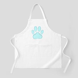 Blue Dog Pawprint Apron
