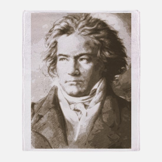 Beethoven In Sepia Throw Blanket