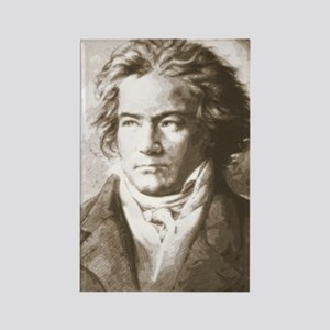 Beethoven In Sepia Rectangle Magnet