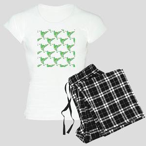 Abstract Hummingbird Patter Women's Light Pajamas