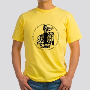 Cicely Raven with Quote Yellow T-Shirt