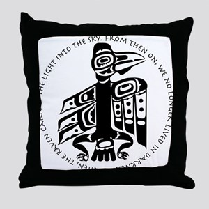Cicely Raven with Quote Throw Pillow