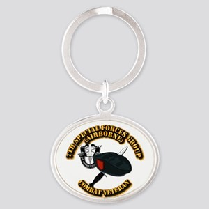7th Special Forces - Combat Vet Oval Keychain