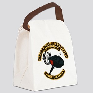 7th Special Forces - Combat Vet Canvas Lunch Bag