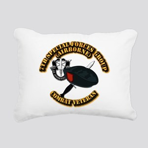 7th Special Forces - Com Rectangular Canvas Pillow
