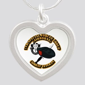 7th Special Forces - Combat Silver Heart Necklace