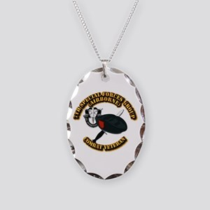 7th Special Forces - Combat Ve Necklace Oval Charm