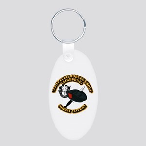 7th Special Forces - Combat Aluminum Oval Keychain