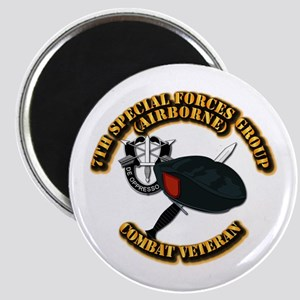 7th Special Forces - Combat Vet Magnet