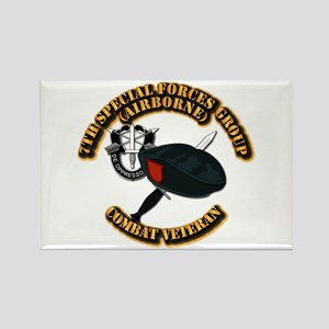 7th Special Forces - Combat Vet Rectangle Magnet