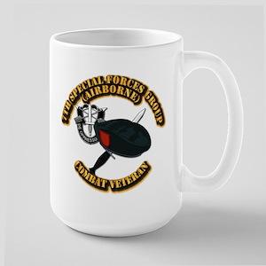 7th Special Forces - Combat Vet Large Mug